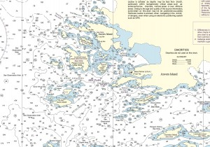 Detail of NGA chart 29123, showing the orientation of Arthur Harbor, which surrounds Palmer Station. A full PDF version of the chart, which covers Anvers Island and part of the Bismarck Strait, is available for download here.