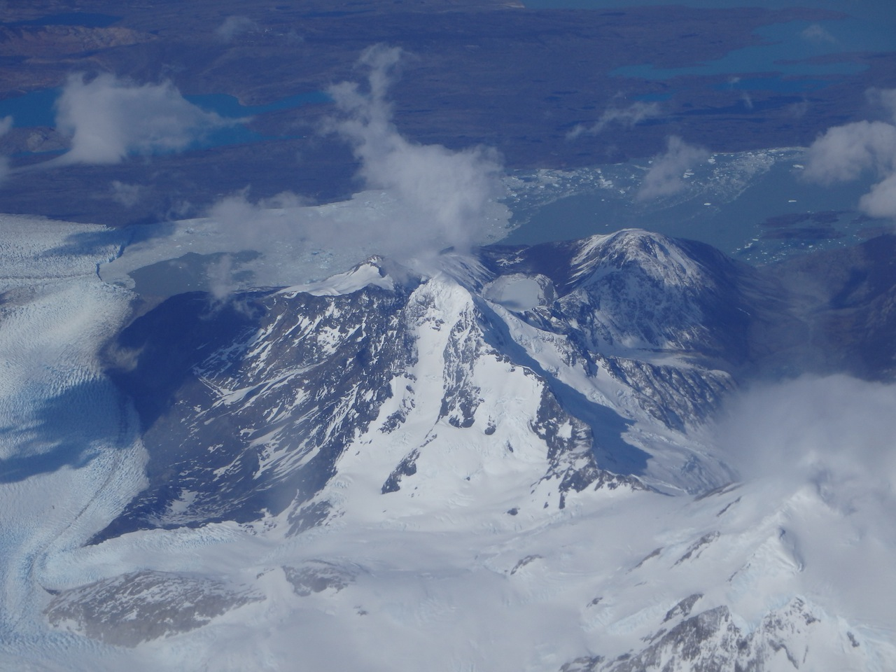 The view from the plane to Punta Arenas. Courtesy Austin Melillo.