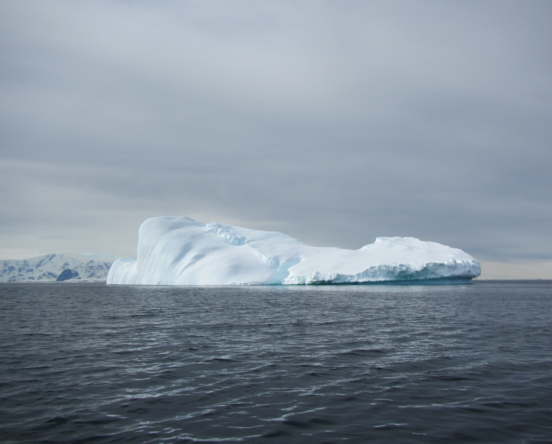An enormous iceberg lingered just a few hundred yards from Station E as we collected water samples on Dec. 27.