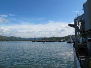 at the dock in Puntarenas
