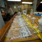 Sample bags and vials ready for the next round of dissection in the bio lab. (Photo by Ken Kostel, Woods Hole Oceanographic Institution)