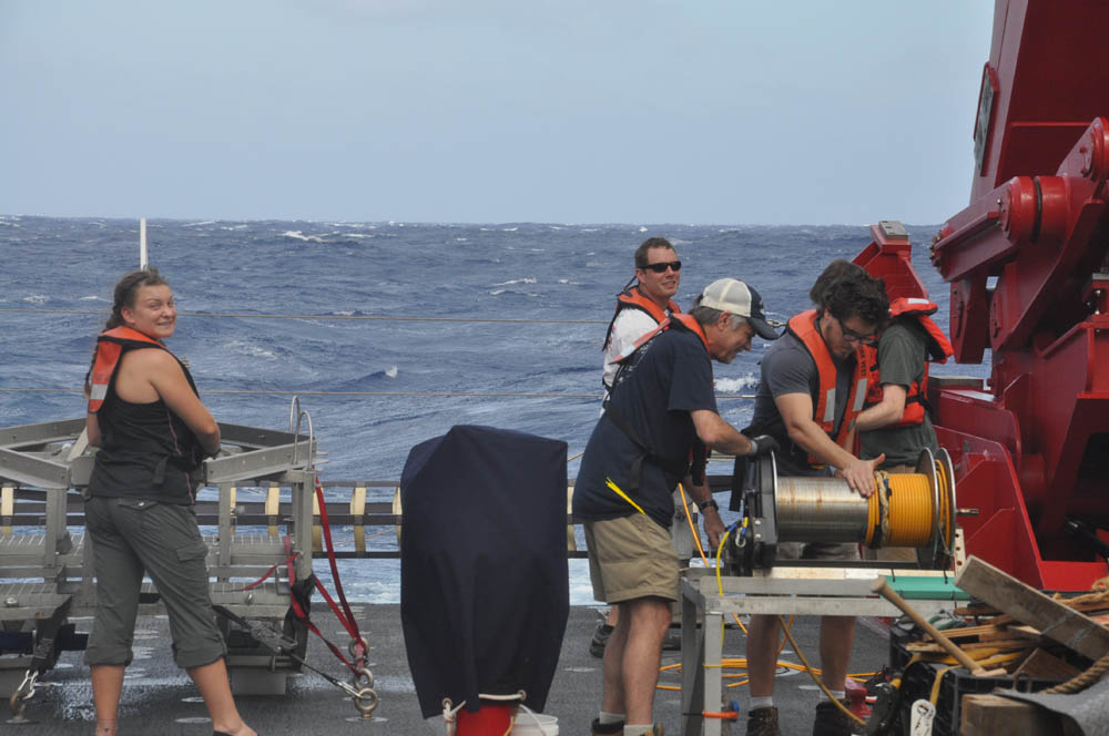 With this last surface maggie recovery, science operations of JQZ cruise 3.2 are complete