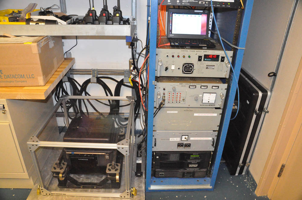 The gravimeter aboard the Sikuliaq is located in the tech shop