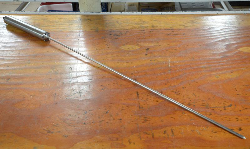 1 meter heat flow probe