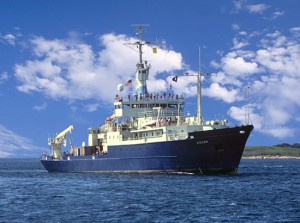 The Research Vessel Knorr. (Woods Hole Oceanographic