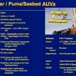 Vehicle Characteristics for the 5000m rated Jaguar and Puma vehicles - Navigation, sensing systems and software are virtually identical between these systems and the Seabed AUVs that are rated to 700m or 2000m. The only difference between vehicles with different depth ratings have to do with size and weight.