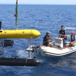 The SeaBED AUV returns from an archaeological dive in the Aegean Sea (Matt Grund)