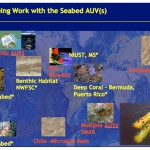 Ongoing work with the Seabed Class of AUVs. The subtitles in yellow refer to vehicles being used by people other than at WHOI.