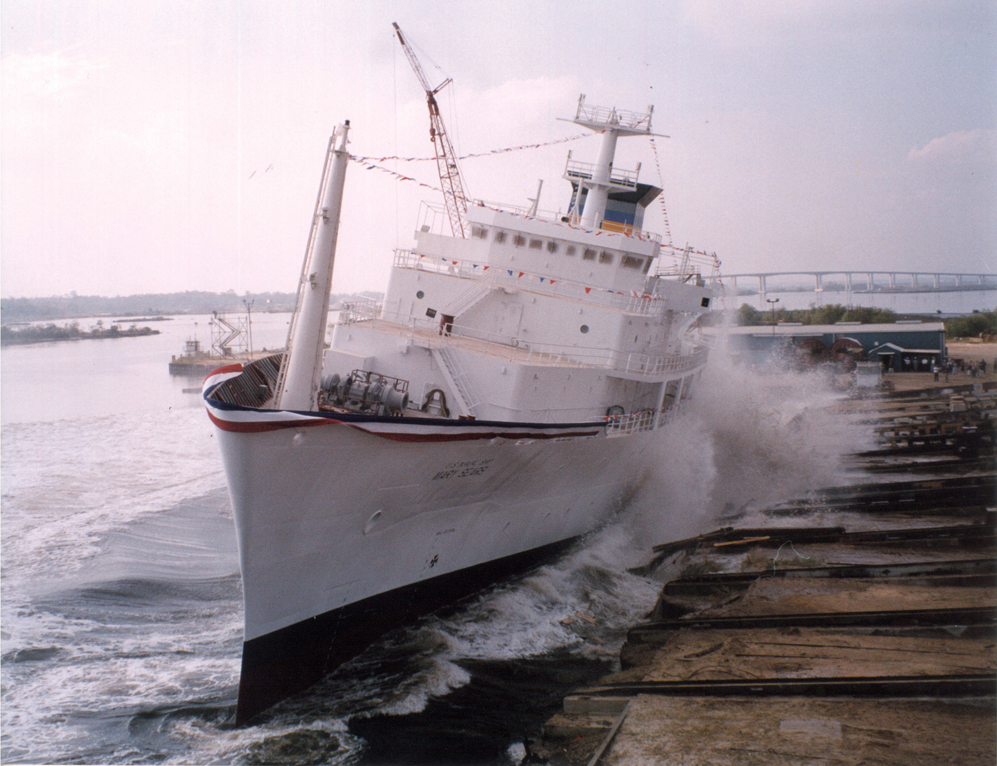 USNS Mary Sears Launch in Pascagoula, Mississippi