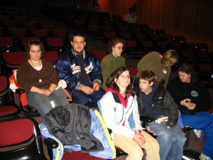 Students enjoying Amy Bower's lecture at the Boston Museum of Science.